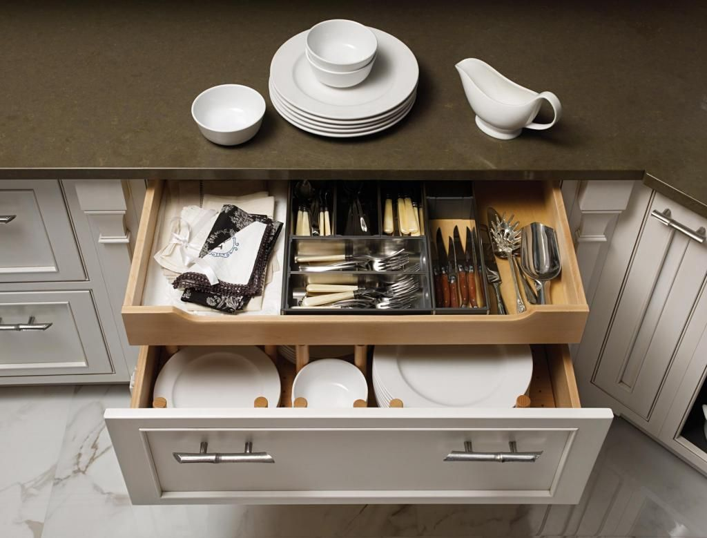Kitchen Design, Drawer Functions Well For China Storage, Serving Plates: Storage  Ideas For