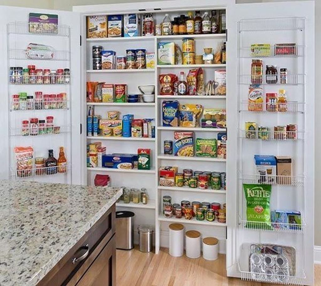 47 Astonishing Built Kitchen Pantry Design Ideas #largepantryideas