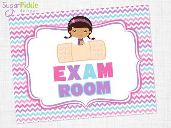Doc Mcstuffins Party Exam Sign Exam Room Sign Printable Doc
