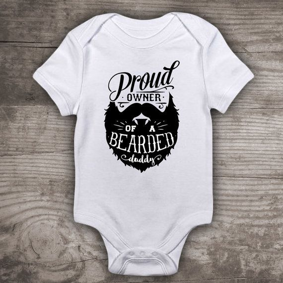 0fdd4f53 Fathers Day Beard shirt for kids boys girls new baby Personalized ...