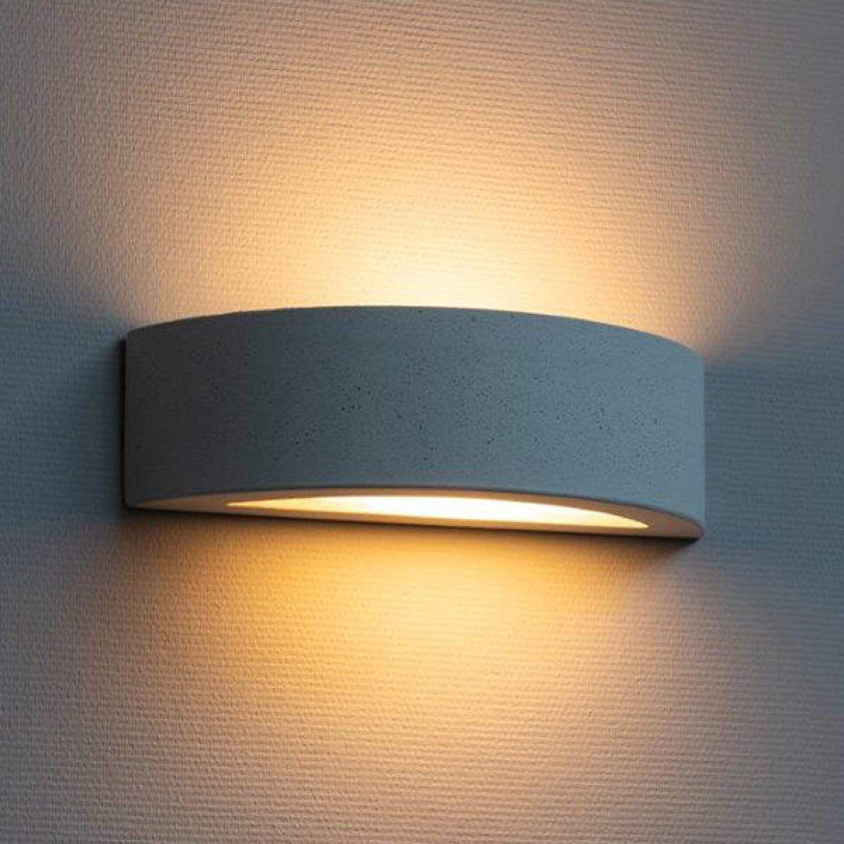Abgerundete Wandlampe Proof Aus Beton Lampen Wandleuchte Wandlampe