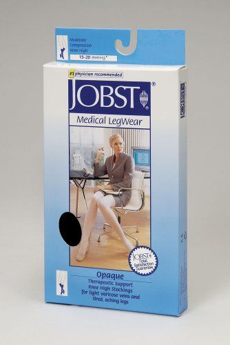 33cc484f870bb Jobst Opaque Women's Closed Toe 15-20mmHg Knee High $35.92 | Style