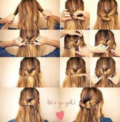 Steps On How To Do A Bow Bun Hair Styles Diy Hairstyles Bow Hairstyle