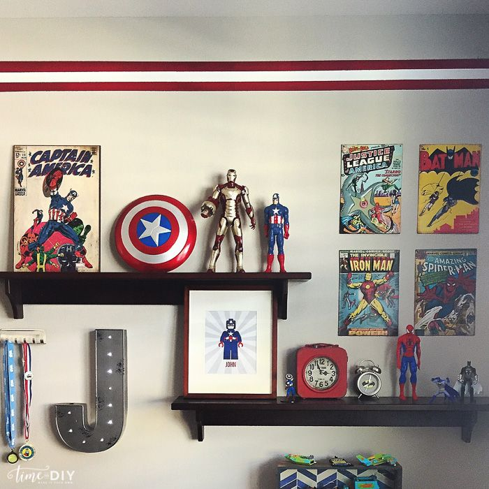 Easy Picture Hanging Method With Images Superhero Room