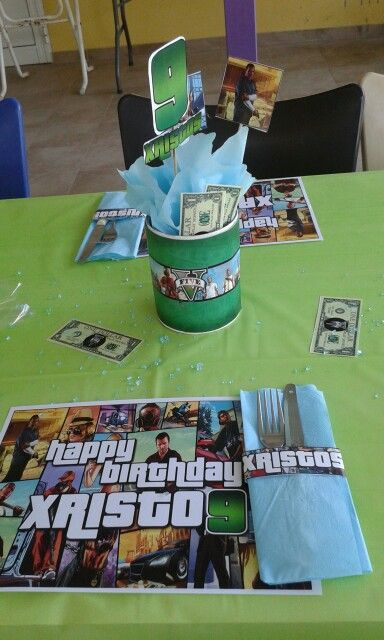 GTA Birthday Party Gta 5 Video Game Games Xbox