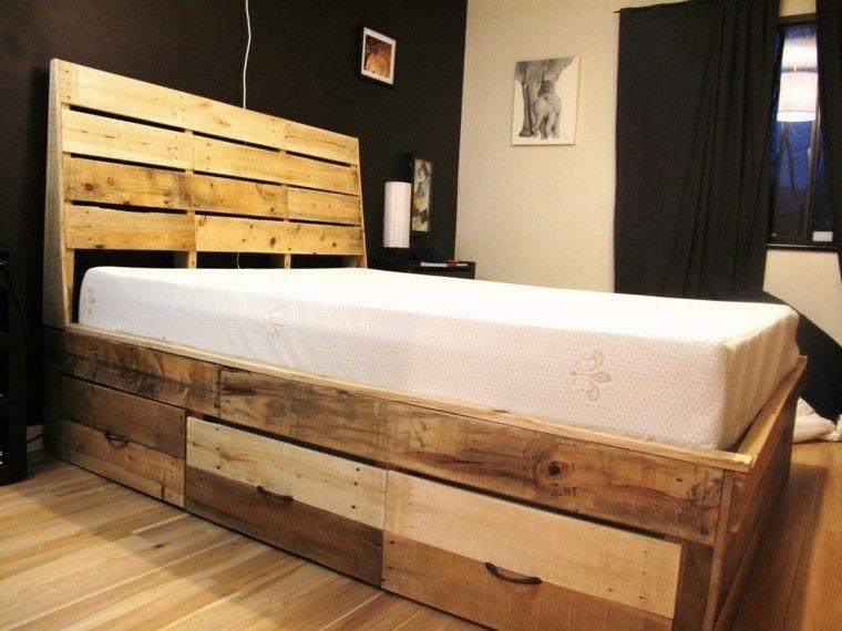 diseño.-cama-moderna-palet.jpg (760×570) | Camas | Pinterest | Camas