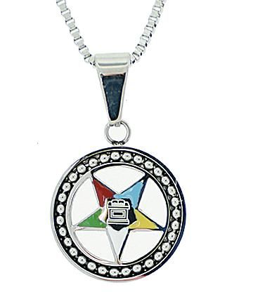 Mason Zone Oespendantsilverwixwheel Order Of The Eastern Star