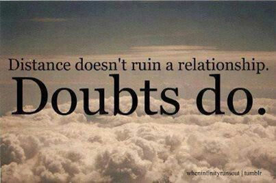 Have Why About Doubts I My Relationship Do