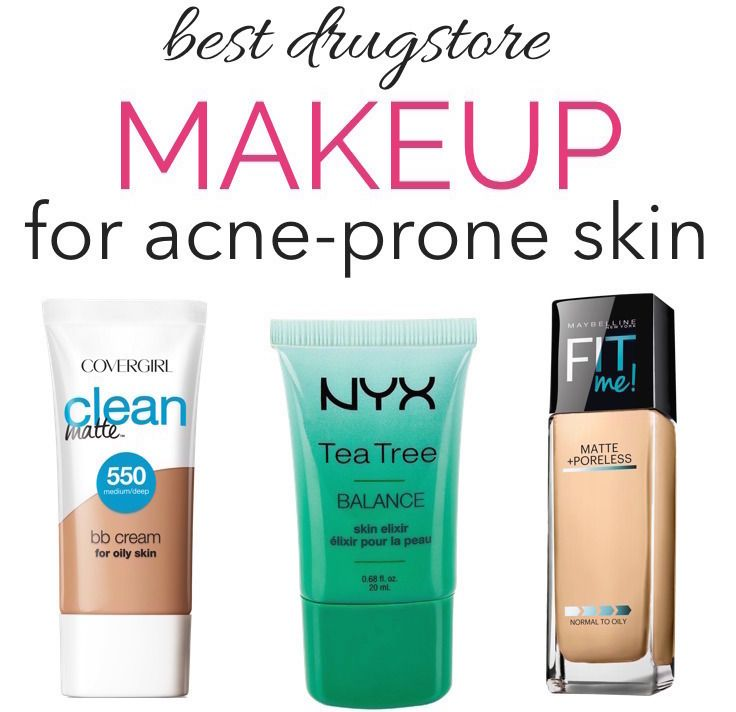 The Best Drugstore Makeup For Oily Acne Prone Skin Mostly Under 10 Acne Makeup Best Drugstore Makeup Acne Prone Skin
