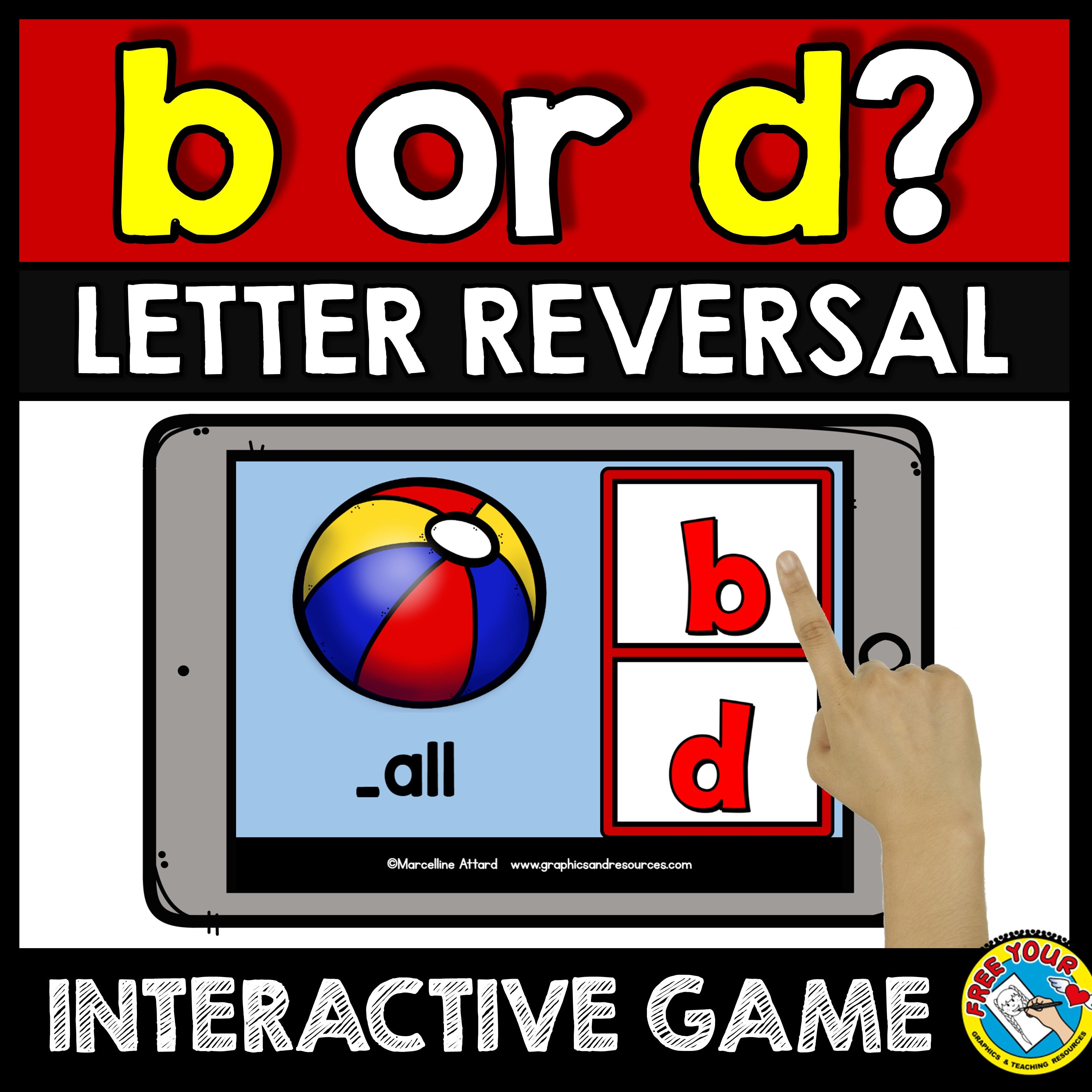 B Or D Letter Reversal Activities Beginning Sounds Game