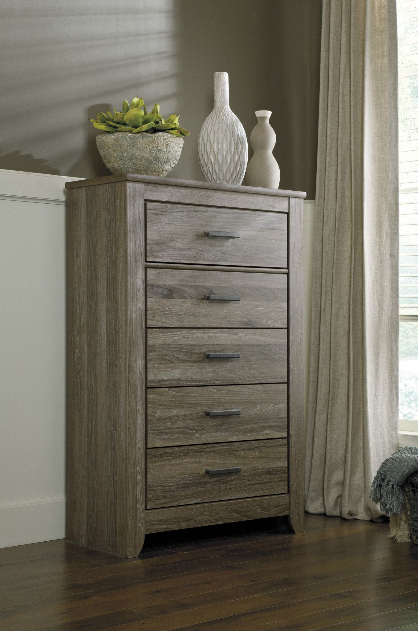 Ashley Furniture Zelen Five Drawer Chest B248 46 Ashley Furniture Furniture Signature Design
