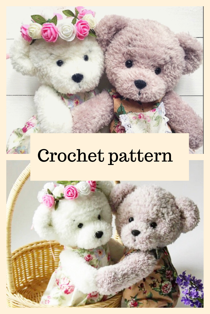 Crochet Teddy Bear PATTERN #crochetteddybears