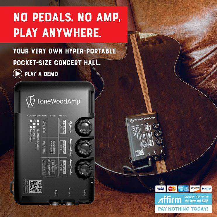 Tonewood Amp Unplugged Acoustic Guitar Fx Boxed With X Brace And Patch Cable Acoustic Guitar Guitar Effects Acoustic