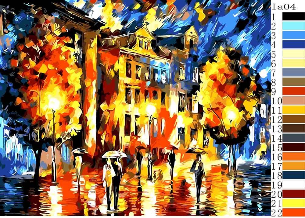 Картина по номерам «Ночная тайна» Леонида Афремова ...