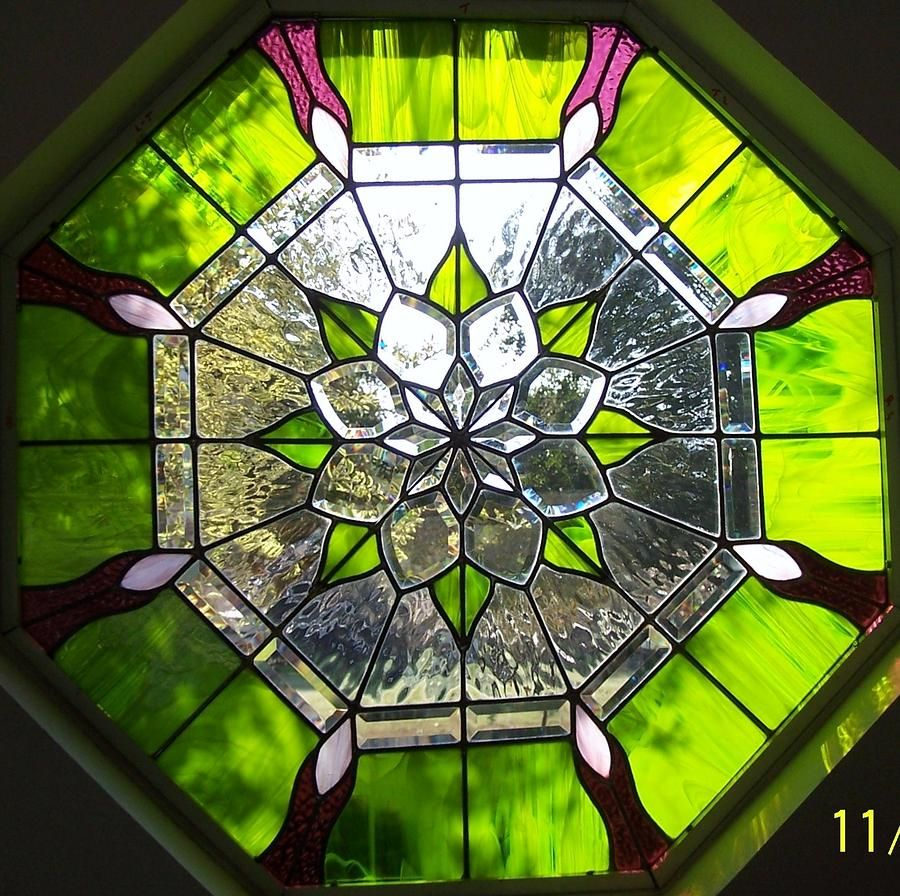 Stained Glass Windows Glass Art   Octagon Beveled Visions By Gladys Espenson Good Looking
