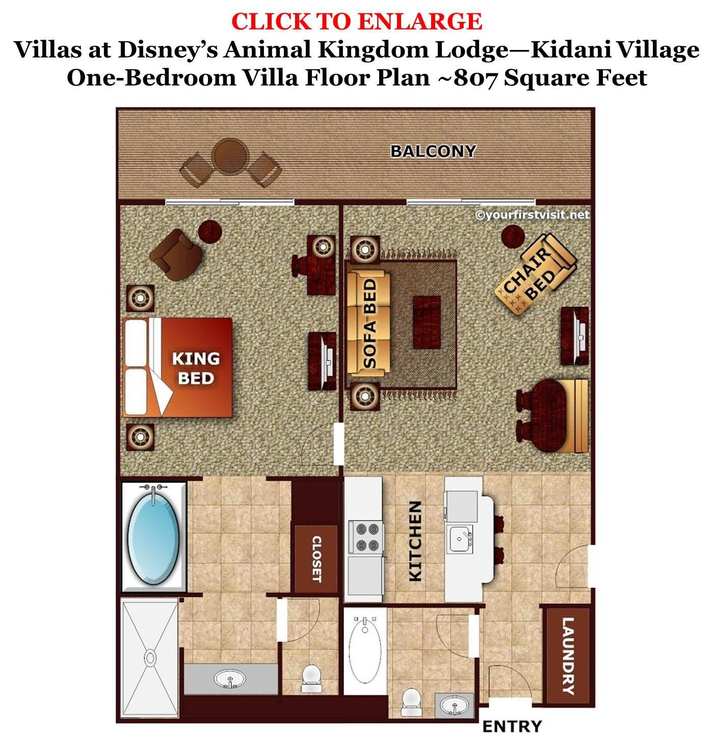 Review kidani village at disney s animal kingdom villas - Bay lake tower 2 bedroom villa floor plan ...