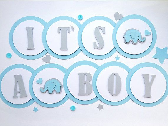 it s a boy banner elephant boy baby shower decoration elephant boy