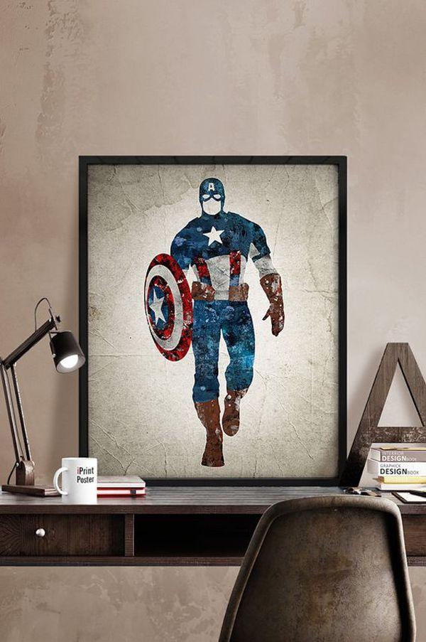 10 Best Marvel Avengers Wall Decor Ideas Home Design And Interior Superhero Poster Captain America Poster Captain America Print