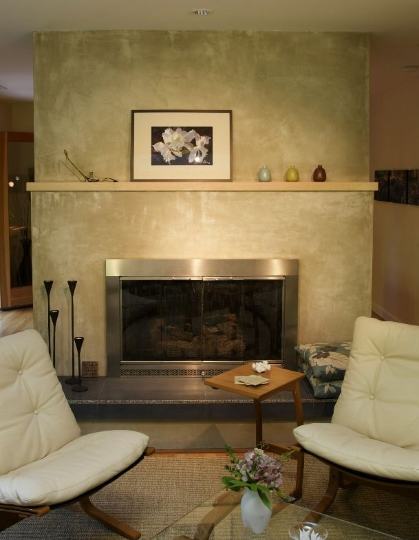 Stucco Finish Around Fireplace Finishes Ideas Plaster Fireplaces Fire Places