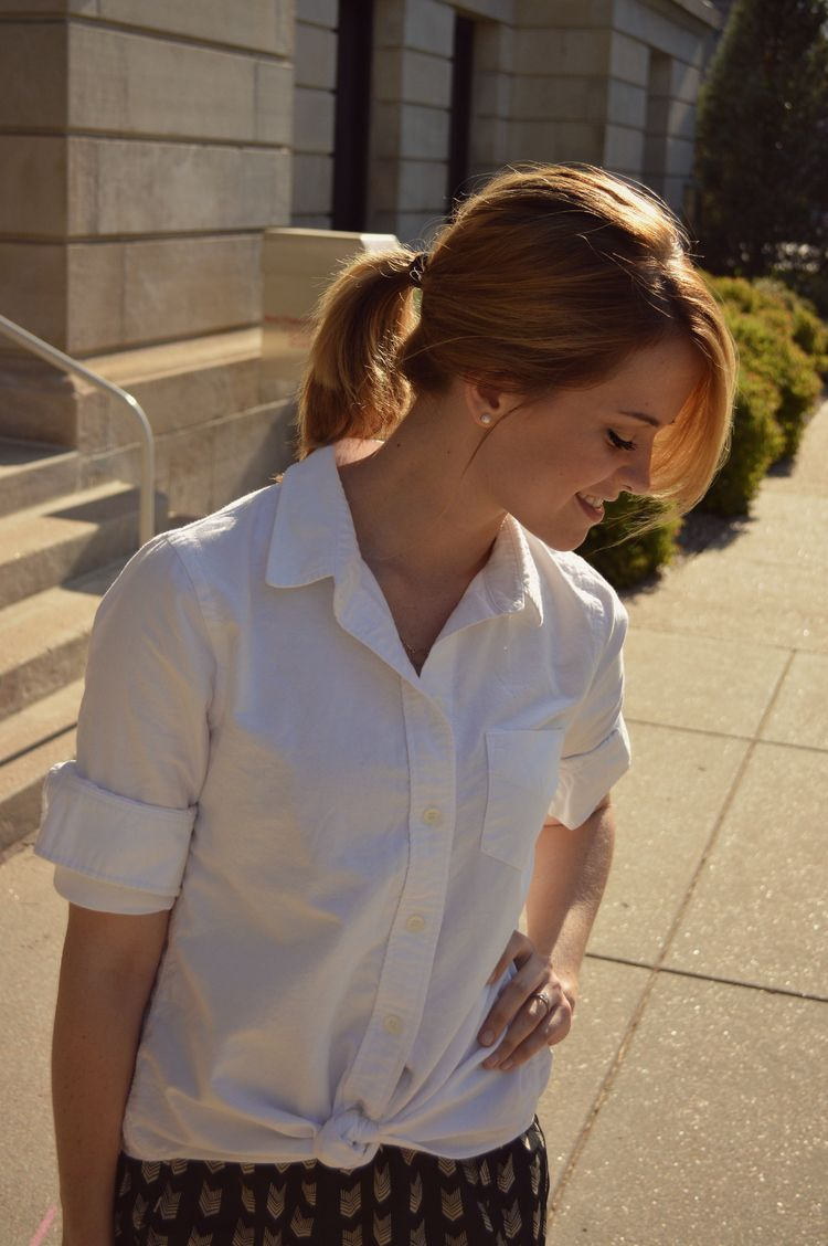 love the classic look of a crisp white button-down