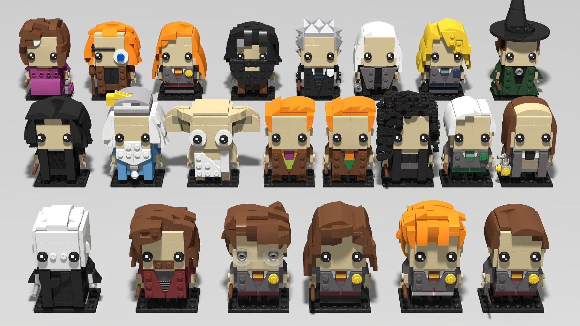 The Latest Collection Of My Harry Potter Lego Brickheadz Designs Lego Harry Potter Cool Lego Creations Legos
