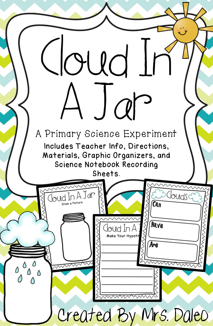 A primary science experiment to make a rain cloud in a jar. Great for a  STEM classroom!   Cloud in a jar [ 1103 x 720 Pixel ]