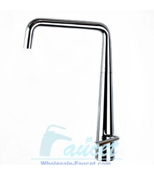 "Features:     ●Luxury chrome Contemporary Single Handle Kitchen Faucet 6217  ●With versatile 360-degree swivel spout  ●Drip-free operation ceramic cartridge  ●Smooth single handle adjustable temperature and flow rate limitation  ●Single-hole, deck mounted installation  ●Water pressure tested for industry standard  ●Standard size 1/2 ""plumbing inlet connections  ●With two 50CM flexible hoses ,all mounting hardware are included"