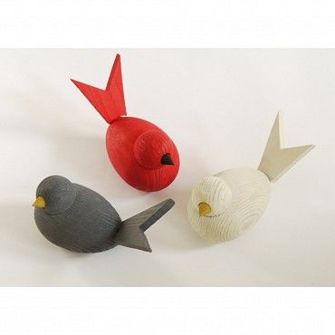 I'd like these for Christmas. Wooden birds by Larssons Trä