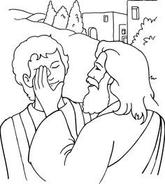 Jesus Heals A Blind Man Coloring Page Sunday School Coloring