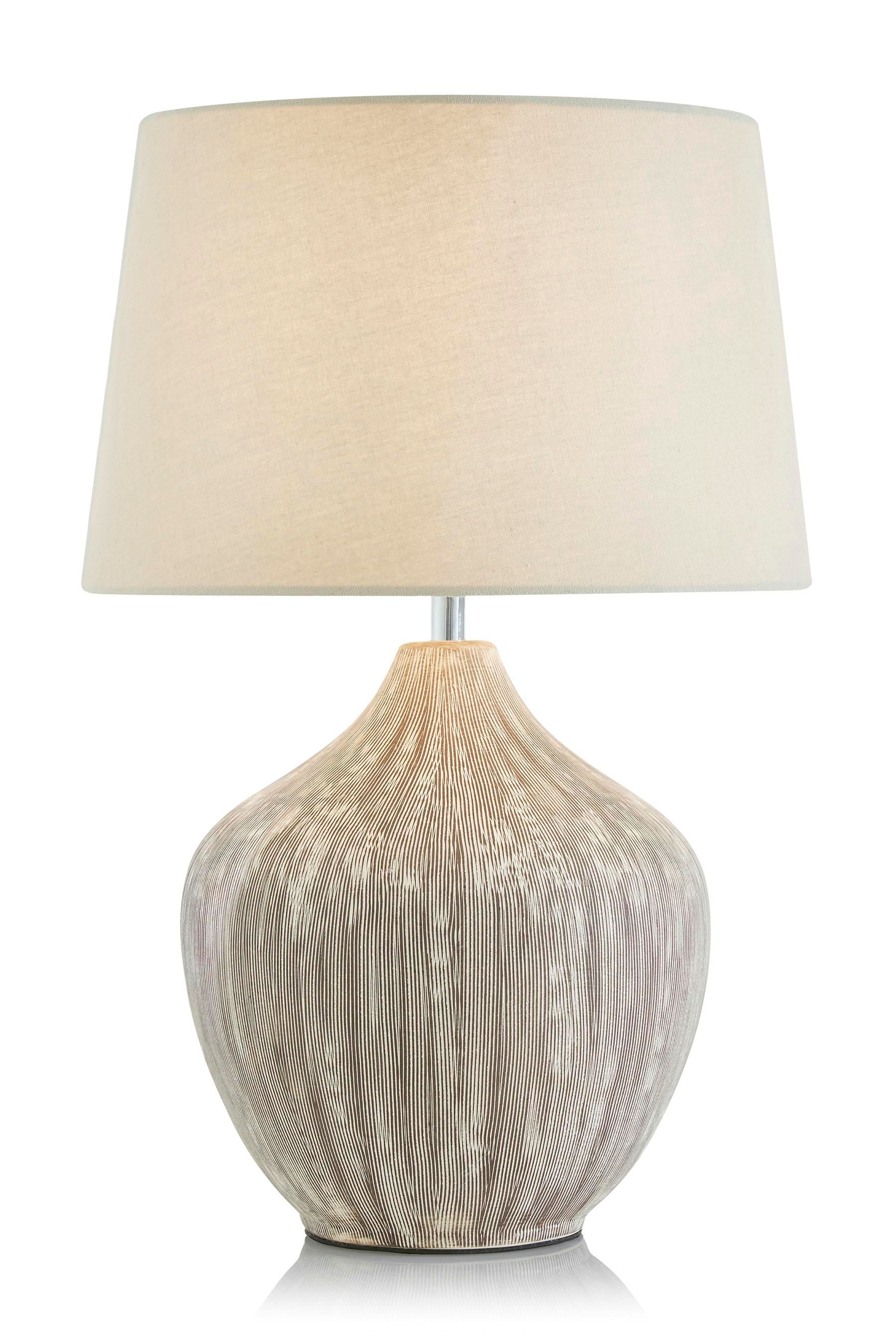 Buy Cream Ceramic Table Lamp With Scratch Detail from the Next UK ...