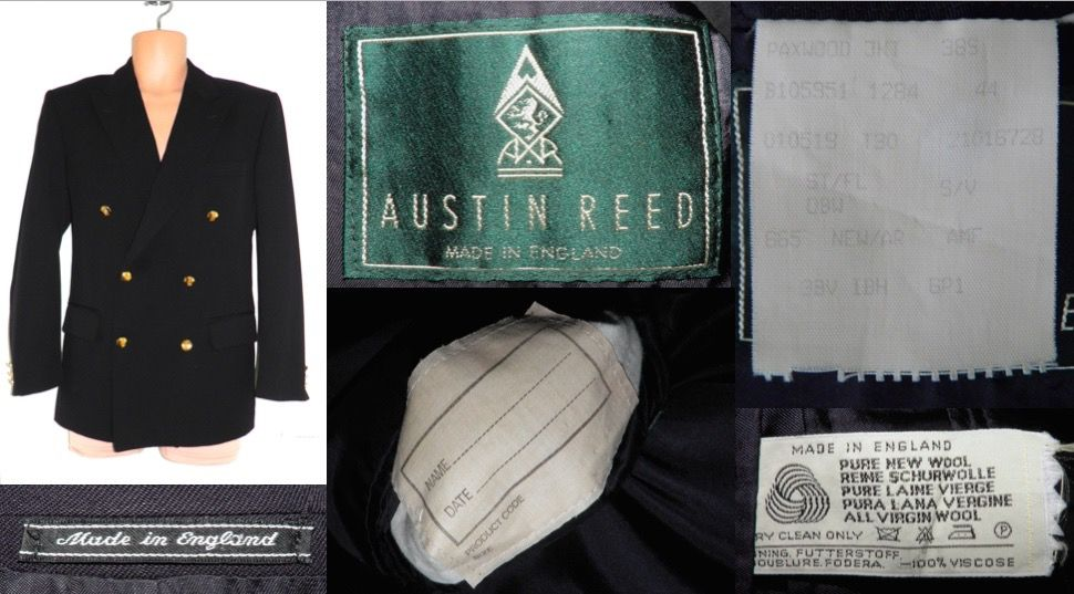 1980s Vintage Austin Reed Made In England Navy Nautical Boating Sports Blazer Jacket Coat Mens 38 S 21 00 Vintage Austin Clothing Company Sports Blazer