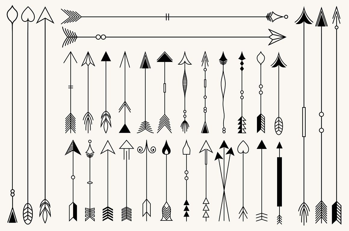 Hipster Arrows Collection Arrow Drawing How To Draw Hands Hipster