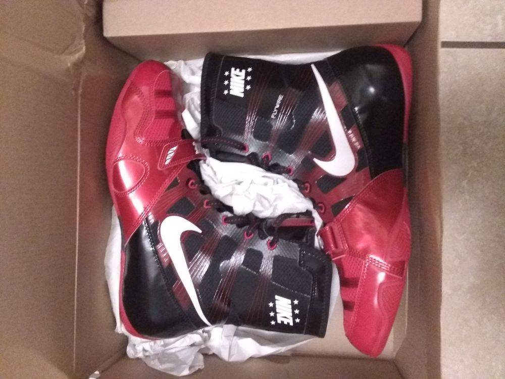 check out c9513 99f2c Men s rare NIKE HYPERKO TRAINER BOXING SHOES BOOTS 11.5 Black Red Manny  Pacquaio