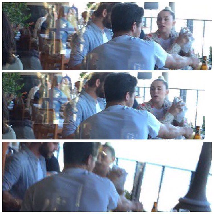 Miley and Liam were spotted at Nobu in Malibu yesterday!