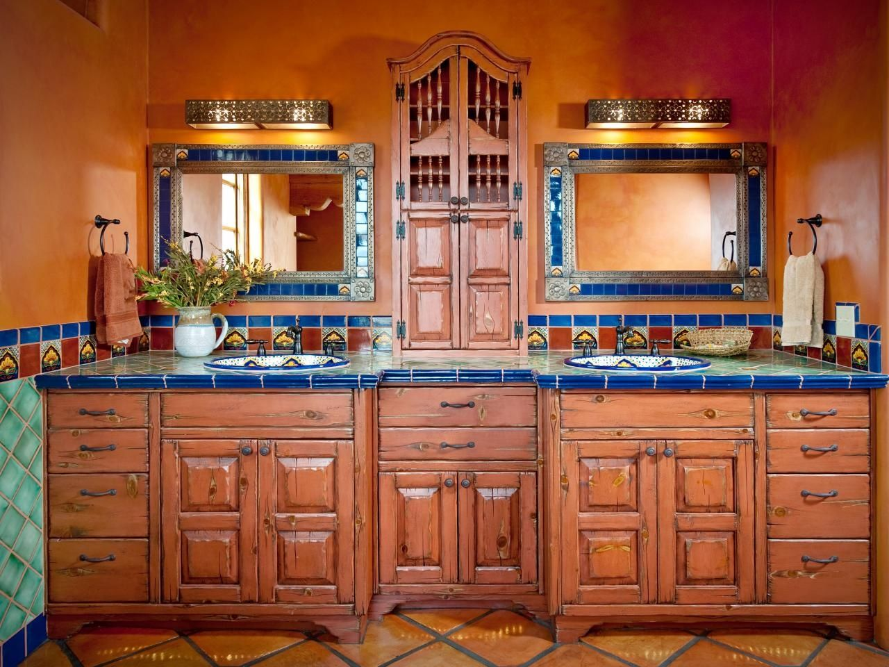 Mexican kitchen decor - 44 Top Talavera Tile Design Ideas Toilets Countertop And Results 1 Bedroom Apartment Decorating