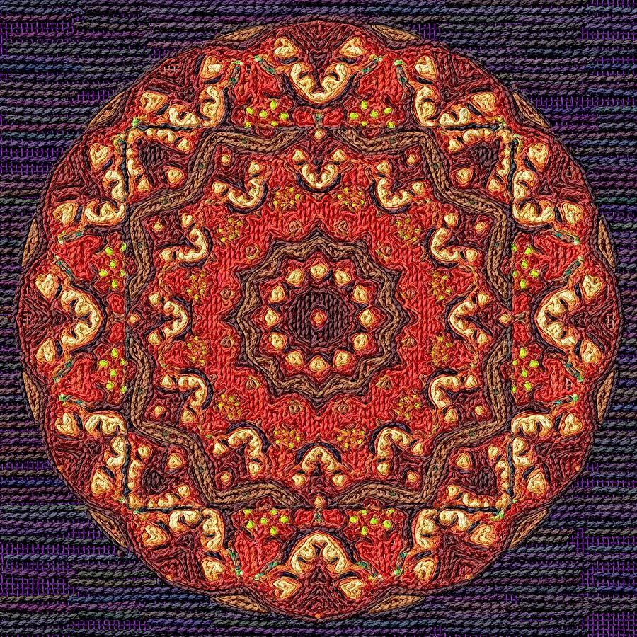 Mandala by Victor Gladkiy, via Fine Art America; digital tapestry