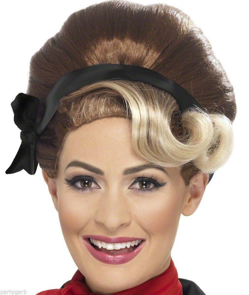 Beehive Wig Auburn Blonde Black 50s 60s 70s Ladies MOD Fancy Dress