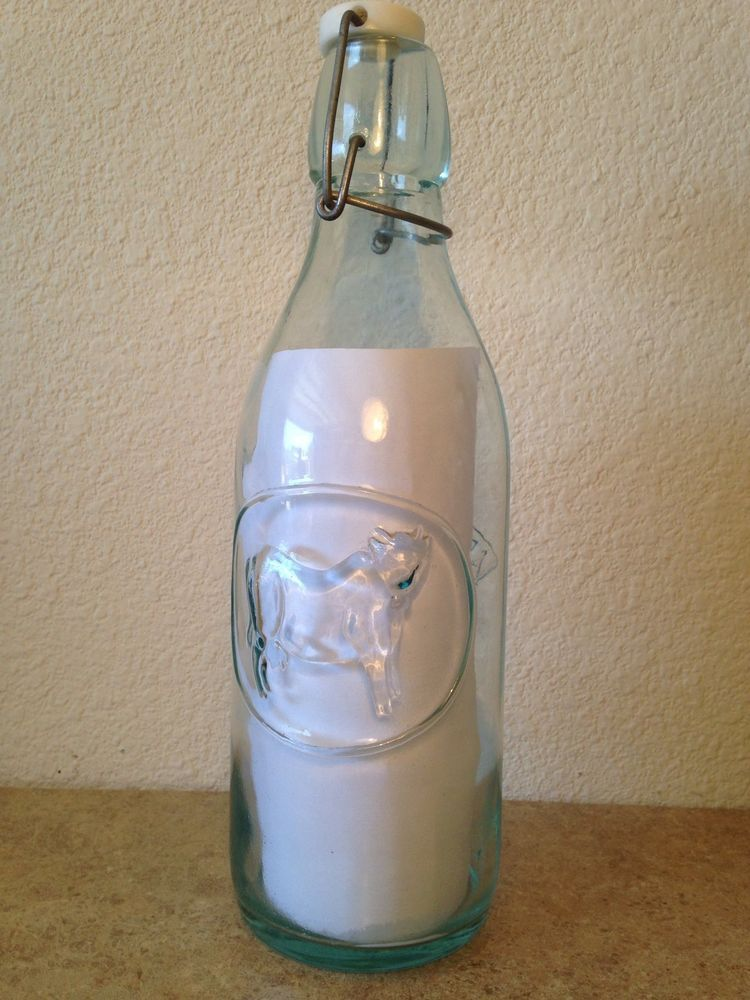 Absolutely pure milk bottle made in italy bottle pure