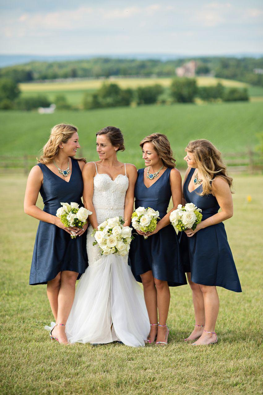 A Rustic Elegant Summer Wedding In The Pennsylvania Countryside Bridesmaid Dresses Under 100 Wedding Inside Navy Bridesmaid Dresses [ 1277 x 850 Pixel ]