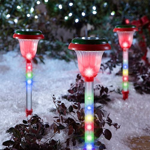 Dollar General · 3 Count Light Show Shooting Stars Pathway Christmas Lights,  Multi Color