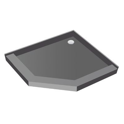 Tile Redi 36 X 36 Neo Angle Triple Threshold Shower Base With