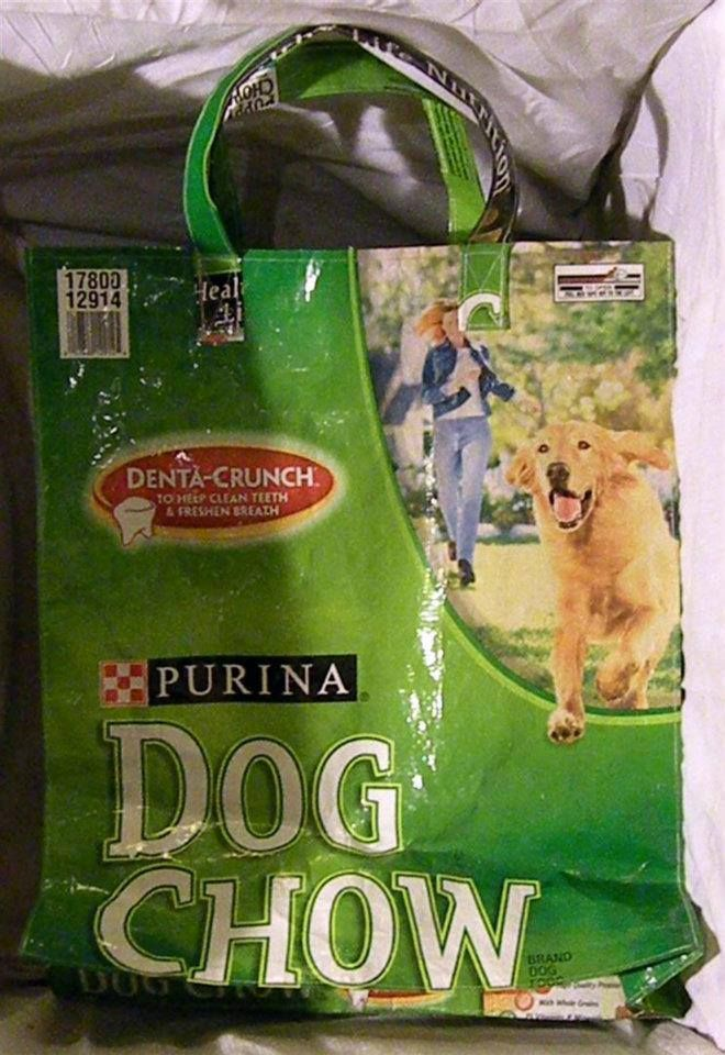 Recycled Pet Food Bags Food Animals Purina Dog Chow Cat Food