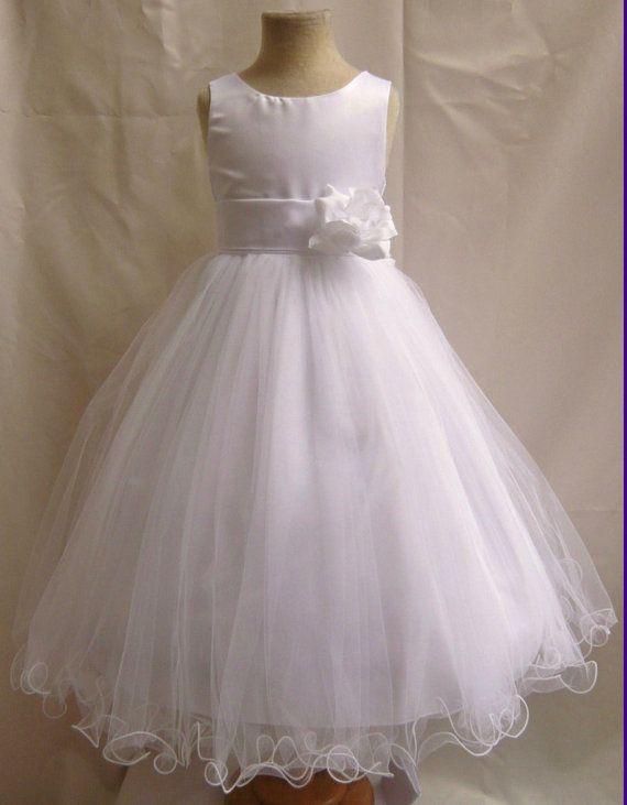 531a6b7ee0 Flower Girl Dresses - WHITE with White (FD0FL) - Wedding Easter ...