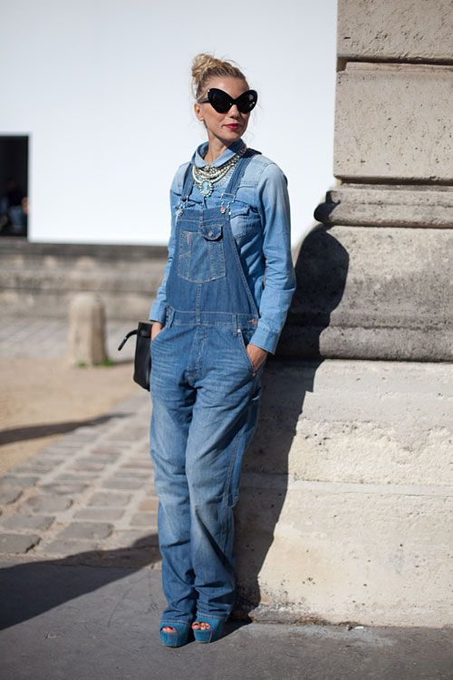 8bd57d5e35ca1 STREET STYLE SPRING 2013  PARIS FASHION WEEK - It s an overalls moment.