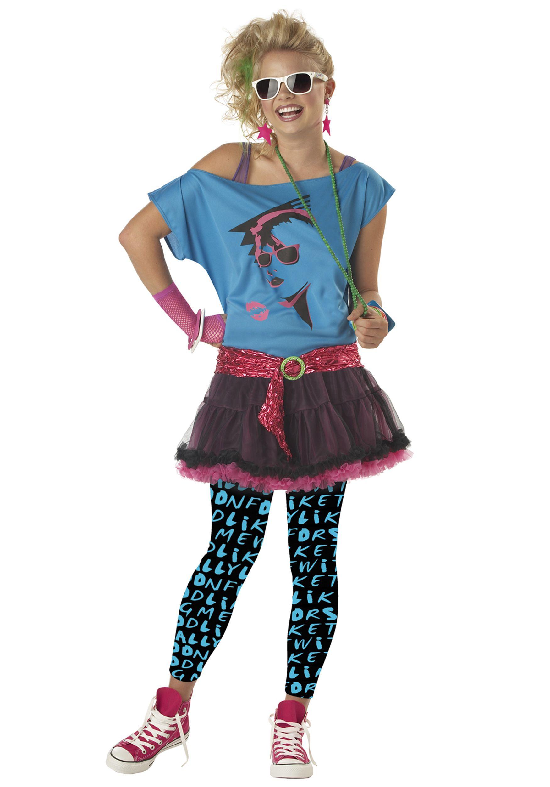 80s Costume Adult Valley Girl Halloween Fancy Dress