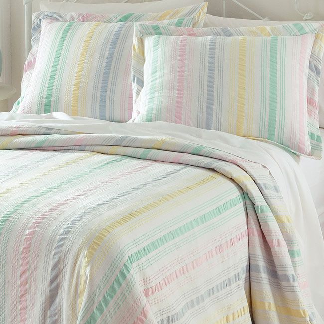 awesome Orvis Comforter Part - 20: Just found this Cotton Bedspread - Pastel Stripe Seersucker Bedspread --  Orvis on Orvis.com!