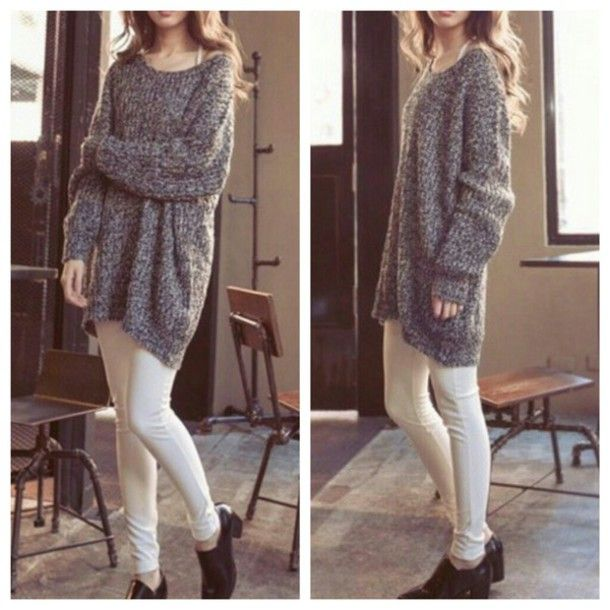 sweater on point clothing oversized oversized sweater huge sweater ...