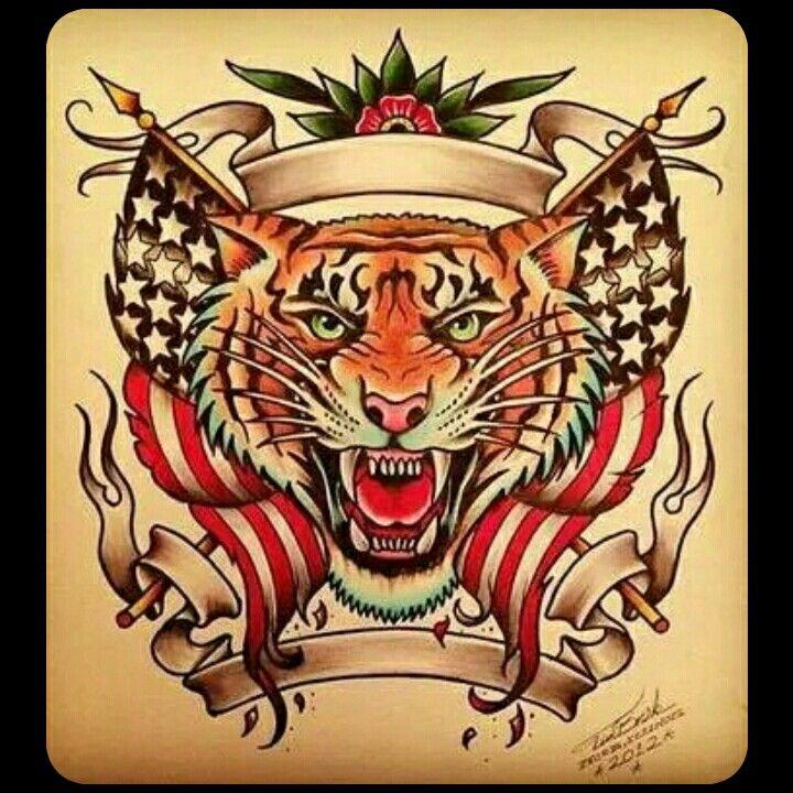 Tiger Tattoo Old School Future Tattoos Tattoos Tiger Tattoo