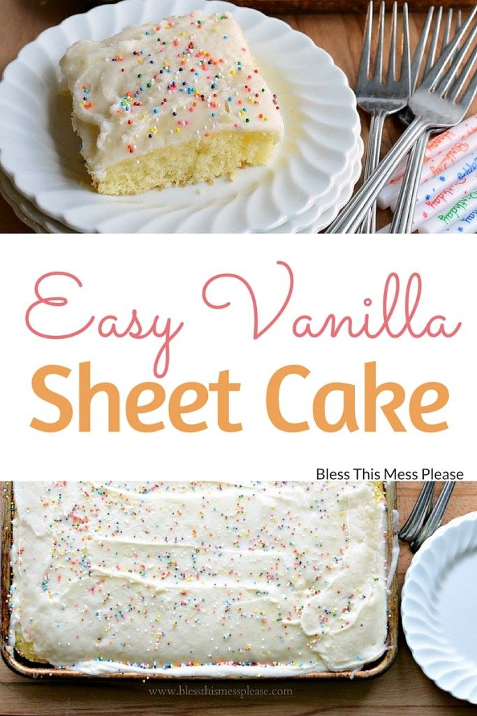 Quick And Easy Vanilla Sheet Cake Recipe Furniture Redos