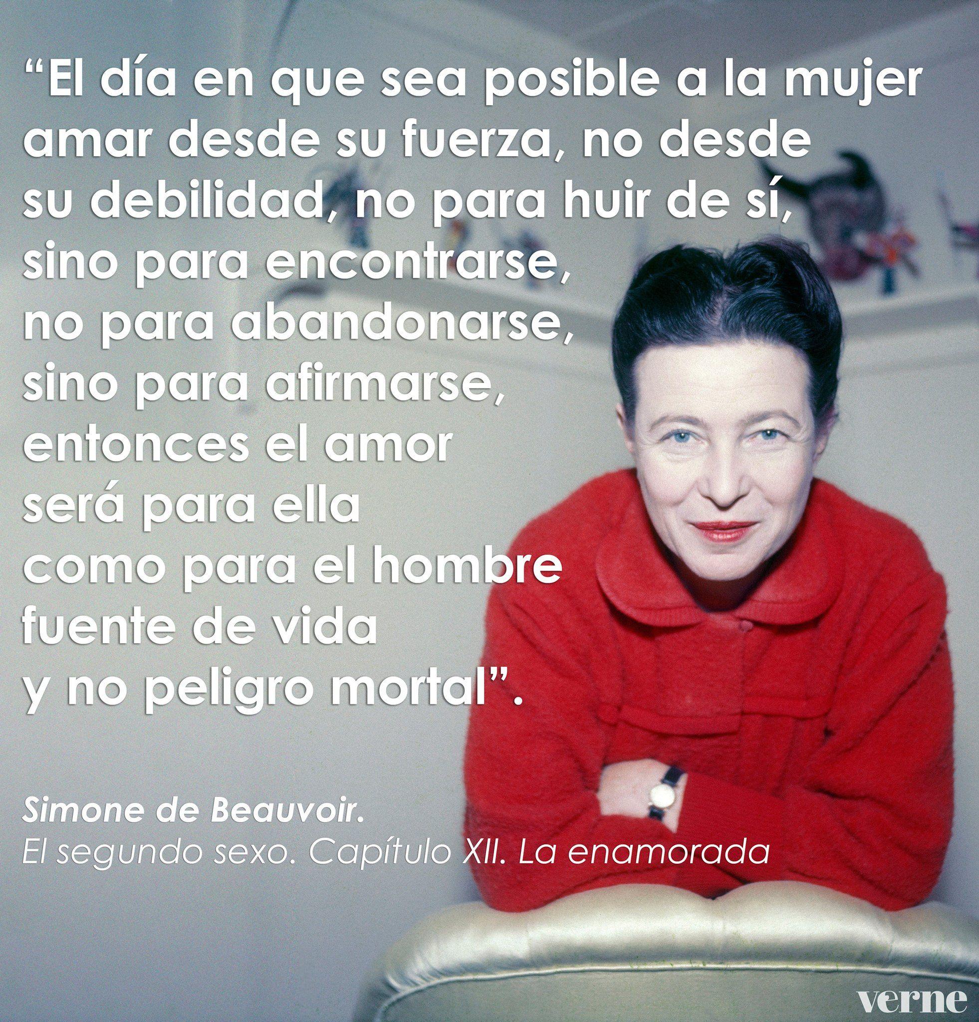 Simone De Beauvoir Simone De Beauvoir Frases Feministas Frases